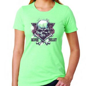 roses skull woman shirt shooting range
