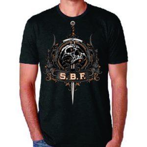 sword gun range t-shirt